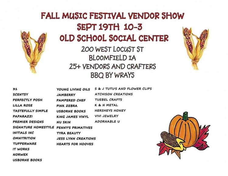 Fall Music Festival Vendor Fair 2015