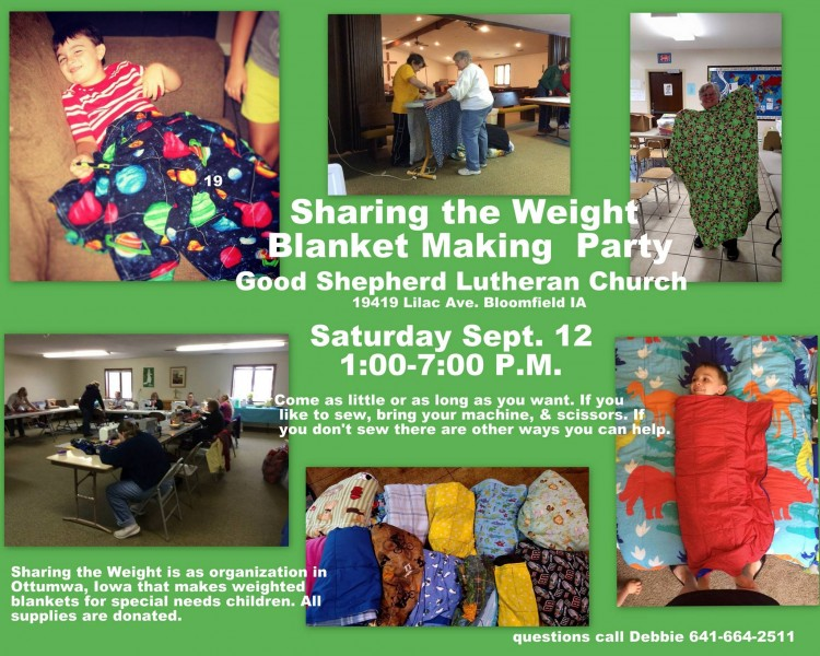 Sharing the Weight party Sept 12 2015