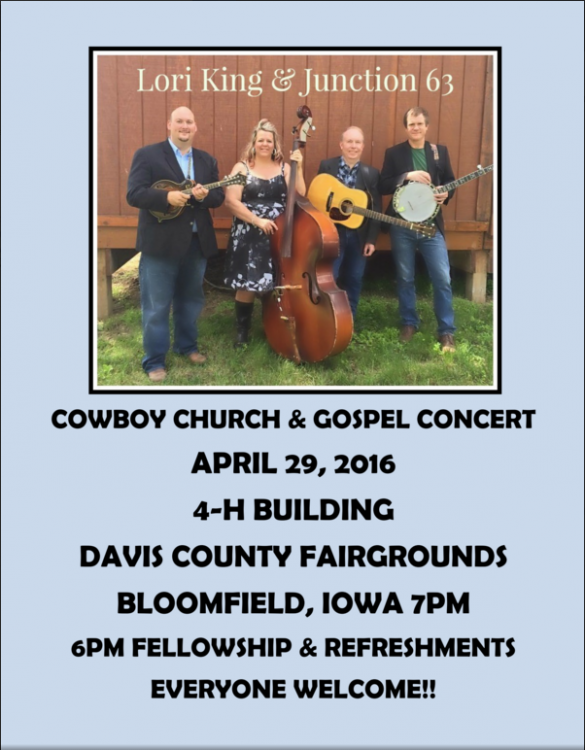 Cowboy Church flyer 2016
