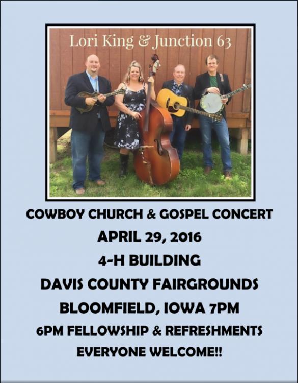 Cowboy Church flyer 2016